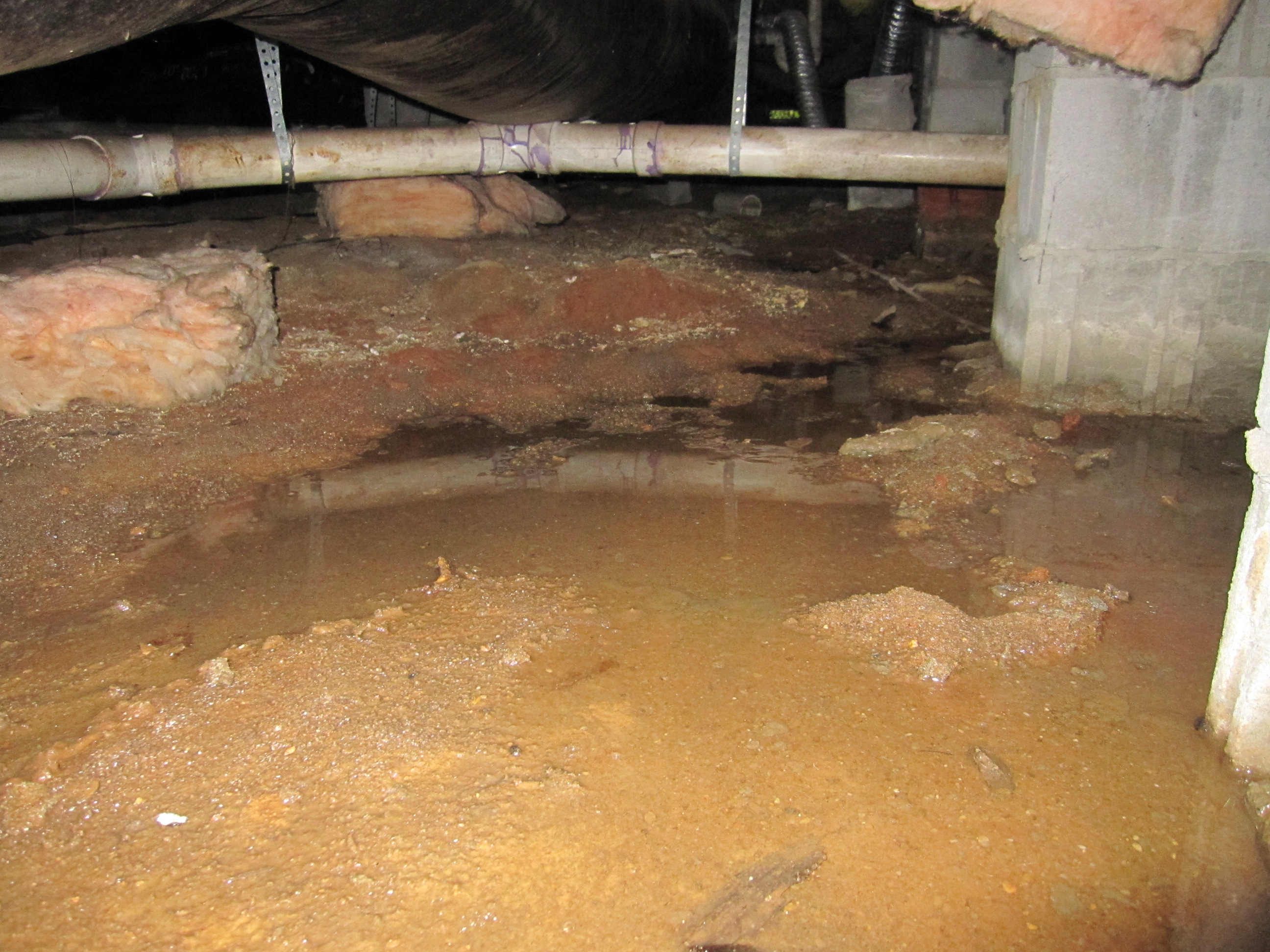 Wet crawlspace madison richland center wi tri state for Crawl space in basement